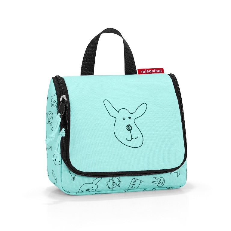 ecf6b4aa79365 Reisenthel RIO4062. Kosmetyczka toiletbag S kids cats and dogs mint -  poliester